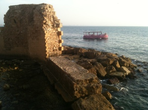 Acre: the remains of the Crusader port.